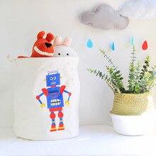 Grande cesto de roupa dobrável cesta armazenamento pano saco De Armazenamento brinquedos organizador a