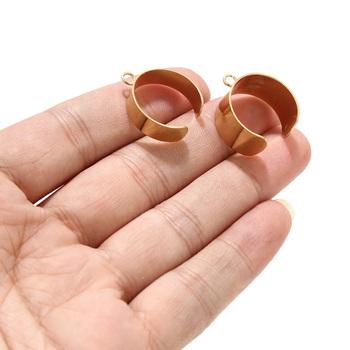 10 sztuk ze stali nierdzewnej 22mm * 10mm otwarte okrągłe koło Charms zawieszki złącza dla DIY komponenty do wyrobu biżuterii tanie i dobre opinie CN (pochodzenie) linki do biżuterii Metal STAINLESS STEEL Gold silver Unisex
