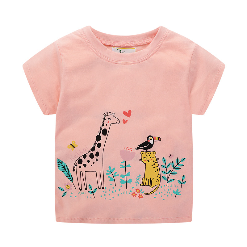 Baby Girl Summer Clothes Tops Flower Swan Tees Shirts Outfits Cute Infant T Shirts Lovely Children Clothing Kids Summer Clothes 5