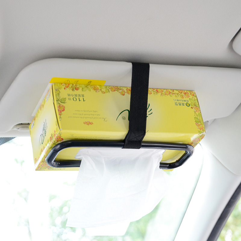 Car Sun Visor Tissue Box Car Chair Back Paper Towel Holder In Car Tissue Bag Fixing Frame Auto Products Car Accessories