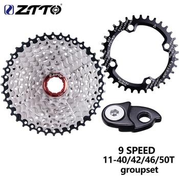 ZTTO MTB bicicleta 1X9 sistema 9 cambio de velocidad cambio trasero desviador Groupset 9 S 42t 40t 50t para xt k7 bicicleta de montaña bielas piezas 9v