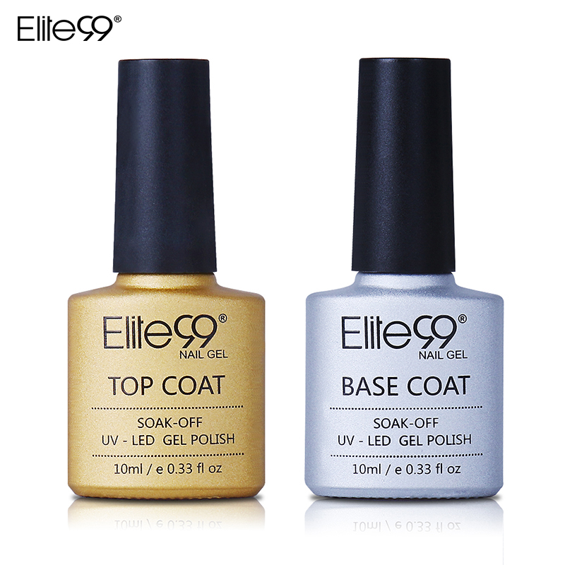 Elite99 UV Gel Top Coat Base Coat 10ML For Nail Gel Polish Base Transparent Clear Manicure Nail Primer Nail Gel Varnish Set