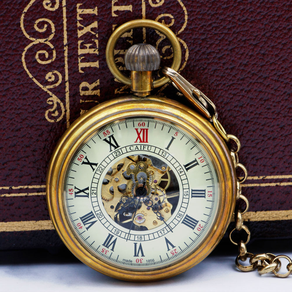 New-Steampunk-Cool-Mechanical-Pocket-Watch-Clock-Unique-Hand-Winding-Unisex-Pendant-Fob-Chain-PJX049