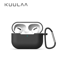 KUULAA Earphone Case For AirPods Pro Silicone Cover Wireless Bluetooth Headphone For Air Pods Pouch Protective For AirPod 3 Case 3d lucky rat cartoon bluetooth earphone case for airpods pro cute accessories protective cover for apple air pods 3 silicone