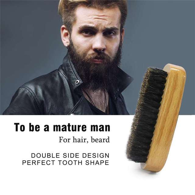 5Pcs/set Men Beard Growth Kit Hair Growth Enhancer Thicker Oil Nourishing Leave-in Conditioner Beard Grow Set with Comb 3