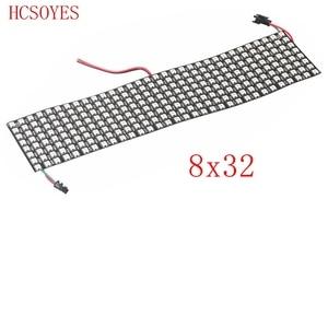 Image 5 - 16x16 8x32 8x8 led pikseli WS2812B cyfrowy elastyczny Panel ledowy indywidualnie adresowalnych pełny kolor marzeń DC5V