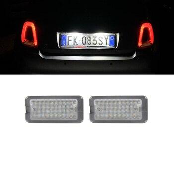 2x luz de placa de matrícula LED para FIAT 500 / C...