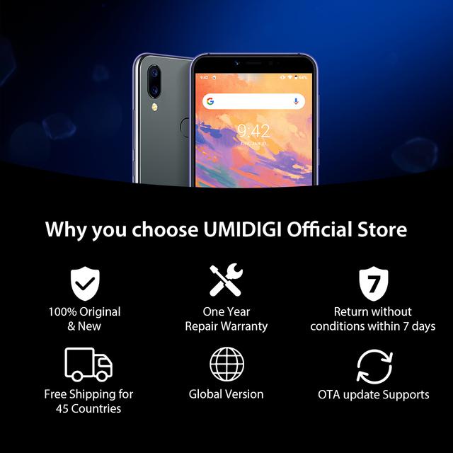 "UMIDIGI A3S Android 10 Global Band Dual Rear Camera 5.7 ""Smartphone 13MP Dual 4G"