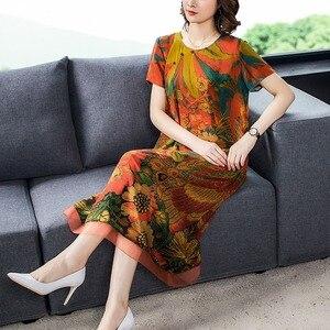 2020 шелковое пляжное платье миди с принтом весна лето 4XL плюс размер винтажное подиумное платье элегантное женское облегающее платье для вечеринки Vestido