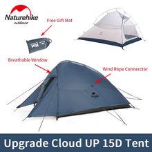 Naturehike zelt Upgrade Cloud Bis 1 2 3 Personen Camping Zelt Outdoor 20D Silikon Ultraleicht Zelt Mit Kostenloser Matte NH17T001-T