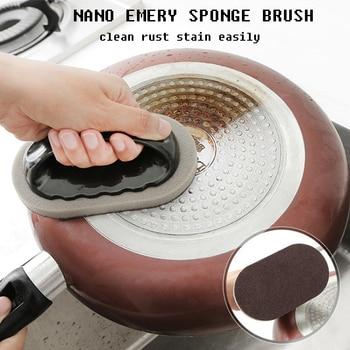 Hot Sell Magic Emery Sponge Brush Eraser Cleaner Kitchen Rust Cleaning Tools Matte Design