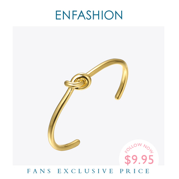 ENFASHION Wholesale Knot Cuff Bracelets Gold Color Manchette Bangle Bracelet For Women Armband Fashion Jewelry Pulseiras B4286