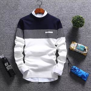 Pullover Men Sweater Knitted Brand-Clothing Striped Men's Winter Homme Casual Autumn