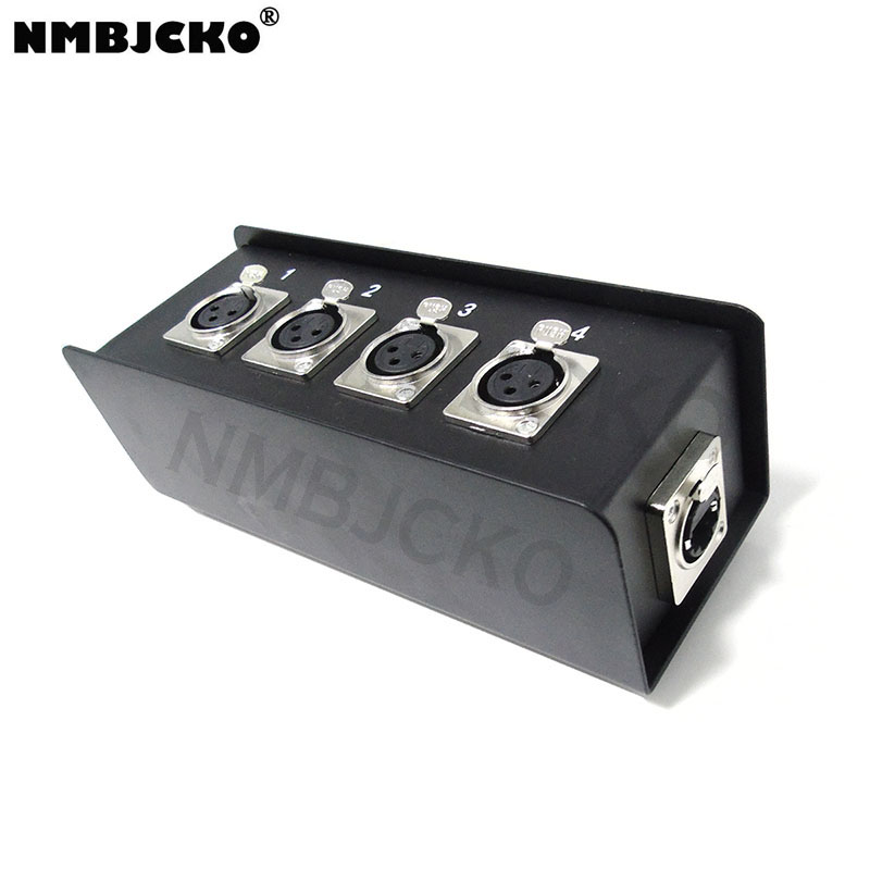 NMBJCKO 4 X XLR Female To RJ45 Breakout Box - Move Audio Via CAT5 CAT6 Networking Cables