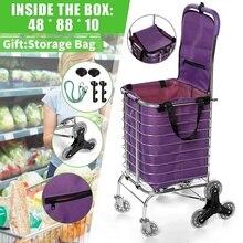 Shopping-Cart-Trolley Folding Multipurpose with Trolley-Bag Rope 8 Wheels-Trailer Wheels-Trailer