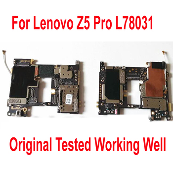 Original Tested Well Mainboard For Lenovo Z5 Pro L78031 Motherboard Circuits Card Fee Flex cable Phone Parts