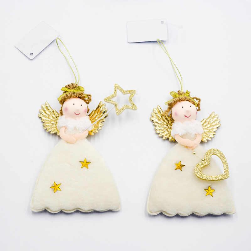 คริสต์มาสใหม่น่ารักตุ๊กตาตกแต่งคริสต์มาสจี้ Xmas Tree แขวนเครื่องประดับใหม่ปีของขวัญเด็ก SA147