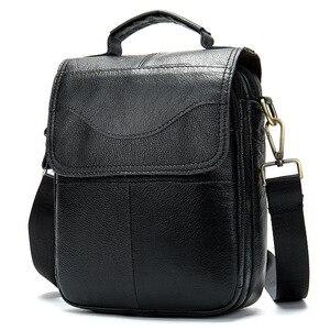 Image 2 - WESTAL shoulder bag for men Bag Mens Genuine Leather messenger bags Small Flap man male Crossbody bags leather man handbag8558