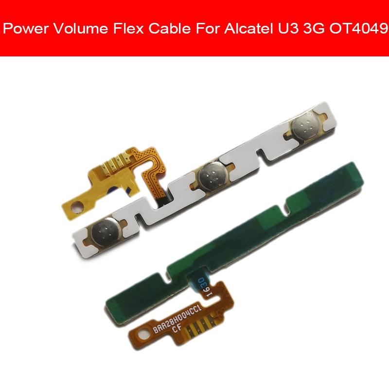 Power & Volume Button Flex Cable For Alcatel U3 3G 4049D 4049 OT4049 Power Volume ON OFF Switch Side Key Flex Ribbon Repair