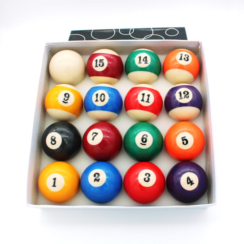 Standard size A grade billiard ball set 16 pool balls 57.2mm