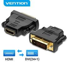 Mukavele DVI HDMI adaptörü çift yönlü DVI D 24 + 1 erkek HDMI dişi kablo konnektör dönüştürücü projektör HDMI DVI