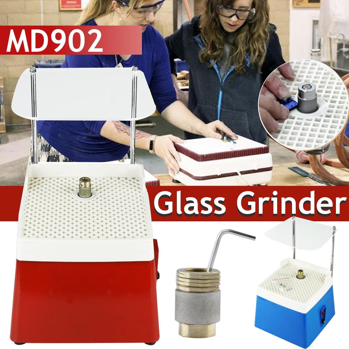 110V/220V Portable Mini Automatic Water Stained Grinder DIY Diamond Glass Desktop Corner Grinding Machine Set