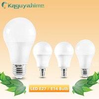 Kaguyahime bombilla LED regulable E27 E14 lámparas 220V 240V bombilla de luz inteligente IC 24W 20W 18W 15W 12W 9W 5W 3W LED E14 E27 lámpara de proyector