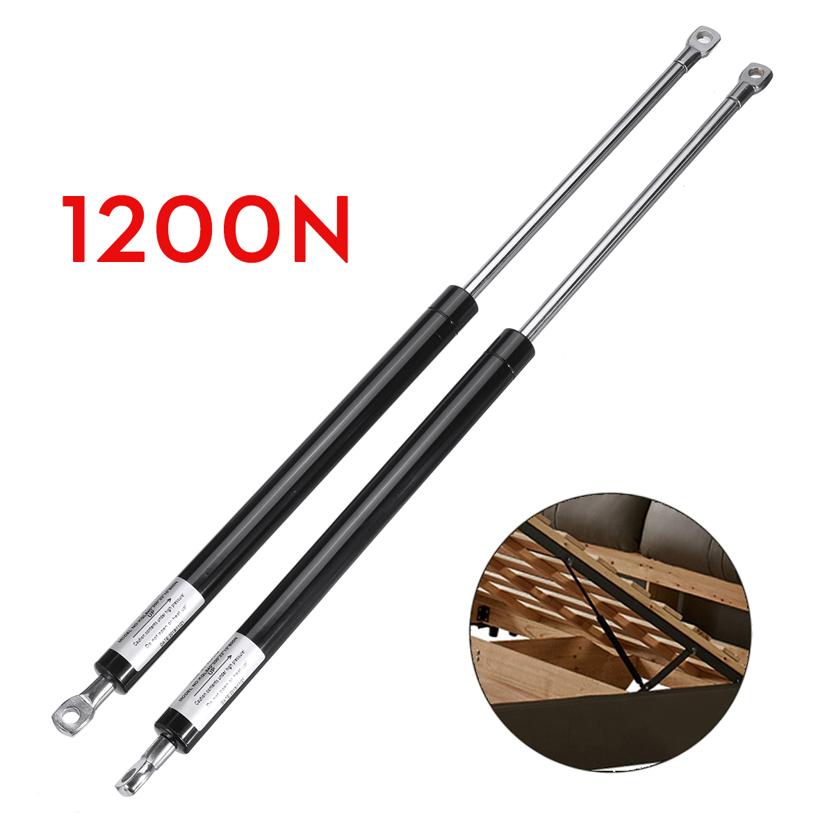 2X 54cm 540mm 600-1200N Universal Shock Lift Strut Support Bar Gas Spring Lift Up Pneumatic Support For Ottoman Storage Bed