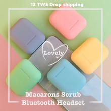 i12 tws Bluetooth Earphone Wireless Earbuds Hands free Sport music For all Smart