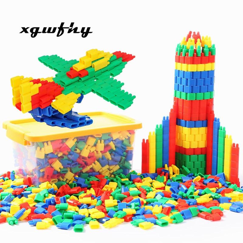 1000pcs Toys To Develop Intelligence To Insert Blocks DIY Bullet Building Block Toy Educational Toys Bulk For Children Gift Jm28
