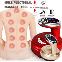 Electric Cupping Massage Stimulate Acupoint Tissue Therapy Machine Scraping Heat Massage Negative Pressure Acupuncture Guasha electric cupping massage guasha suction scraping slimming massager body device negative pressure meridian dredge physiotherapy