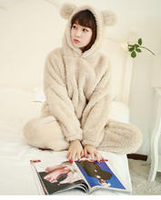 Xifer осенне зимняя утепленная Фланелевая Пижама женская теплая