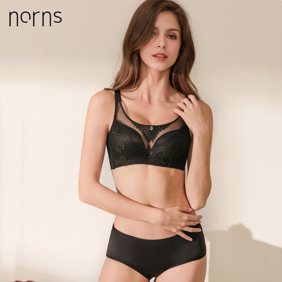 Norns Fine Cotton Underwear Women's Sexy Lingerie   Set   Fashion   Bra     Set   for Girl Plus Size 40 38 Ultra-thin Cotton   Bra