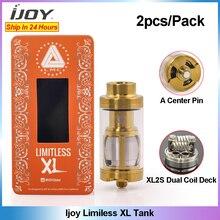 2 Chiếc Ban Đầu Bộ Sản Phẩm IJOY Limitless XL 4 Ml Xe Tăng Vape Atomizer Với XL2S Dual Coil Deck Rebuildable Xe Tăng Atomizer VS IJOY EXO XL Xe Tăng