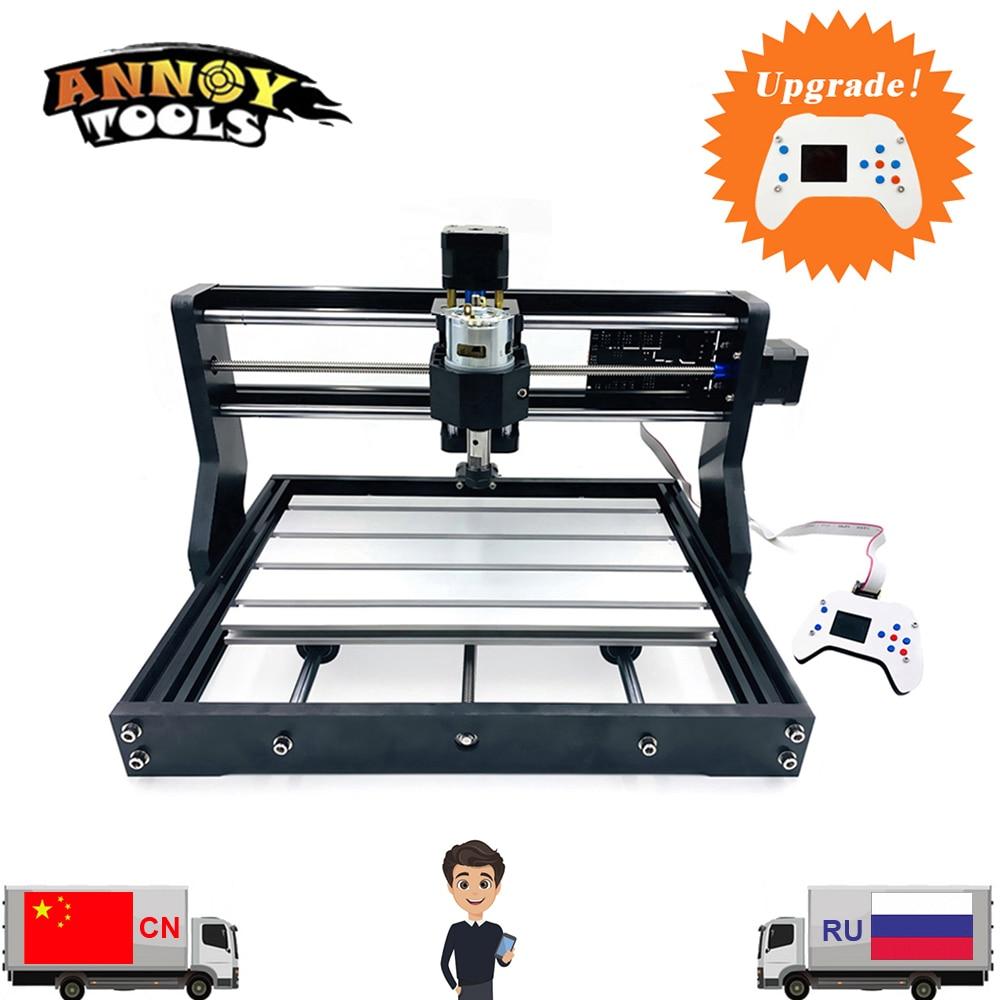 CNC 3018 Pro GRBL 1.1 bricolage CNC machine, 3 axes bakélite fraiseuse, bois routeur laser gravure, CNC 3018 peut travailler hors ligne
