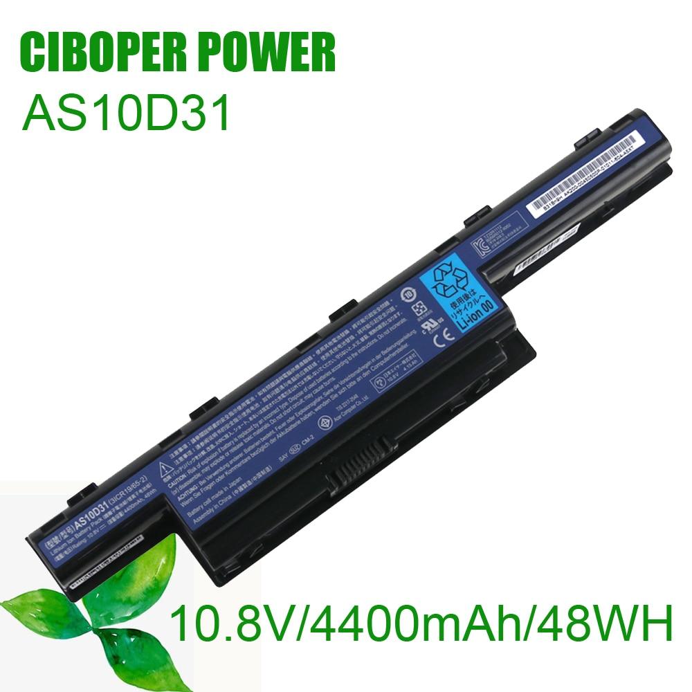 Bateria Do Laptop Original AS10D31 4400mAh/48WH/10.8V Para 4551G 4741G 5741G 5742G 5750G 7750G 7760G AS10D51 AS10D71 AS10D81 AS10D73