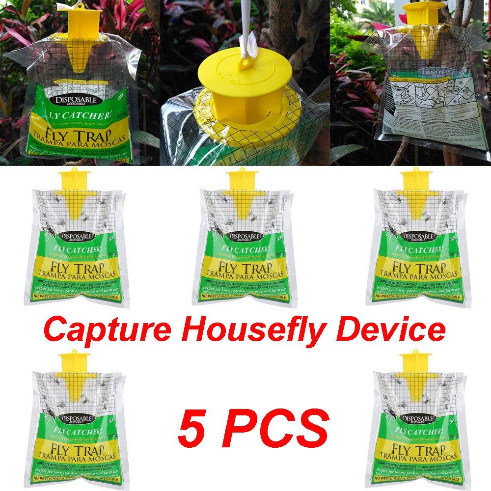 5 шт мухоловка сумка для дома и сада для отдыха на открытом воздухе одноразовые мухоловка Управление ловушка инсектицида пестицида мух мухо...