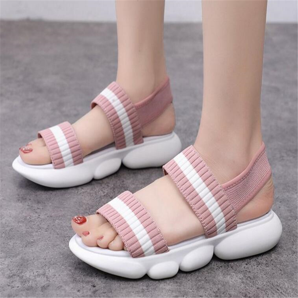 Women Sandals Fashion Casual Shoes For Woman Breathable Comfortable Walking Shoes Lady Summer Platform Slip-on Women Shoes y746