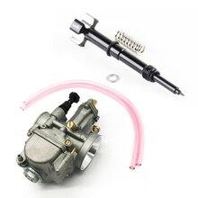 28mm Flat Slide Carburetor W/ Adjuster Screw Black for Yamaha Honda Suzuki KTM ATV 2 Stroke Cycle 80cc 100cc 125cc 250cc 350cc