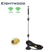 Eightwood WiFi RP-SMA Female Antenna Aerial for Wireless Network Card USB Adapter Security IP Camera Video Surveillance Monitor