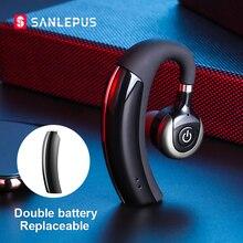 سانليبوس سماعات بلوتوث صغير لاسلكية واقي أذن رياضي ستيريو سماعة رأس مزودة بميكروفون للهواتف والموسيقى