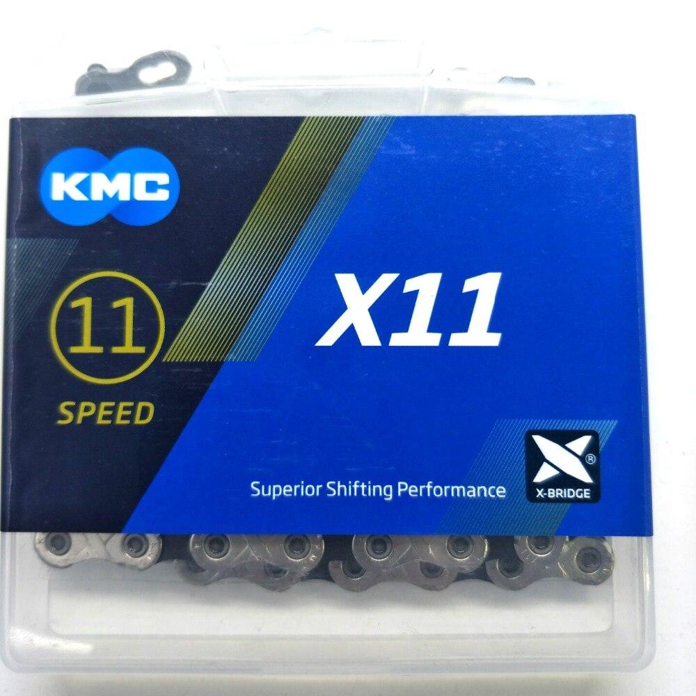 Цепь велосипедная KMC X11 X11.93, цепь велосипедная 11 скоростей 118L, в оригинальной коробке с волшебной кнопкой, запчасти для горных/дорожных велос...