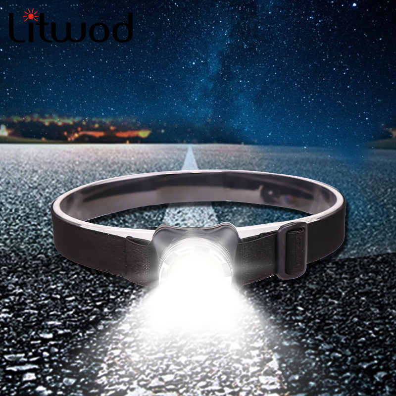 Z50Powerful Headlamp USB Rechargeable Headlight COB LED Head Light With Built-in Battery Waterproof Head Lamp White Red Lighting