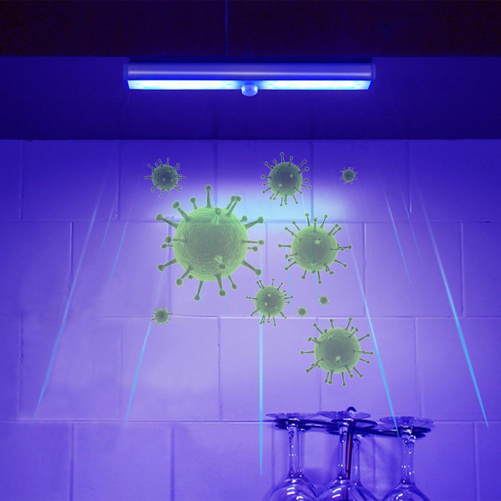 UV Disinfection Lamp Infrared Sensor And Light Sensor UV Sterilization Light USB Charging UV Light Bulb For Cabinet Wardrobe