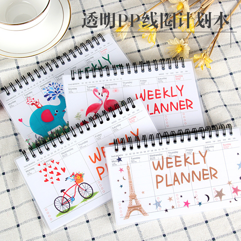 Notebook Portable 2019 2020 Agenda A6 Diary Journal Weekly Monthly Planner School Supplies Stationary Organizer Schedule