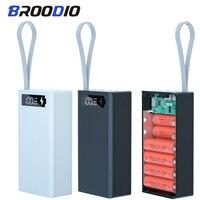 Funda de Banco de energía de batería, soporte de caja de carga con pantalla LCD, USB Dual, Cargador rápido e inalámbrico, carcasa de batería de 12x2021, novedad de 18650