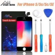 شاشة LCD عالية الجودة ماركة PINZHENG 100% AAAA لهواتف iPhone 5s 5 SE 5C شاشة LCD محول رقمي شاشة تعمل باللمس وحدة 5s SE استبدال الشاشات