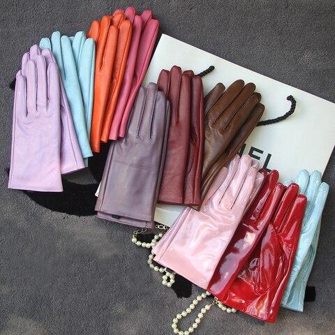 Элегантные женские перчатки подлинной ягнячьей шкуры настоящая