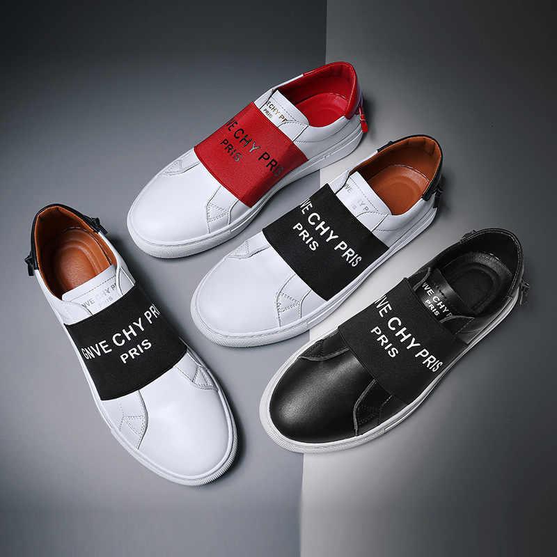 2019 yaz yeni stil nefes klasik serin çok yönlü günlük mokasen ayakkabı erkekler düz ayakkabı Slip-on loafer'lar P