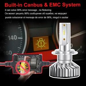 Image 4 - PAUNDUK bombilla de luz antiniebla para coche, minifaro LED Canbus H4 H7 ZES 4300K 6000K 8000K 16000LM 12V 24V H3 H1 9005 9006 HB4 H11